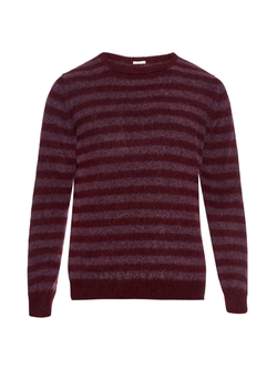 Massimo Alba  - Striped Cashmere and Alpaca-Blend Sweater