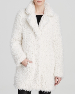 Guess - Shag Faux Fur Coat