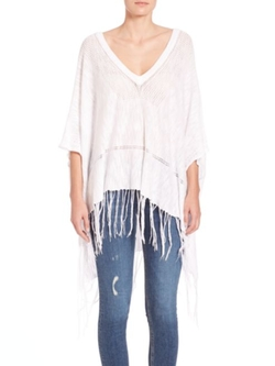 Feel The Piece  - Essex Fringe Poncho Sweater