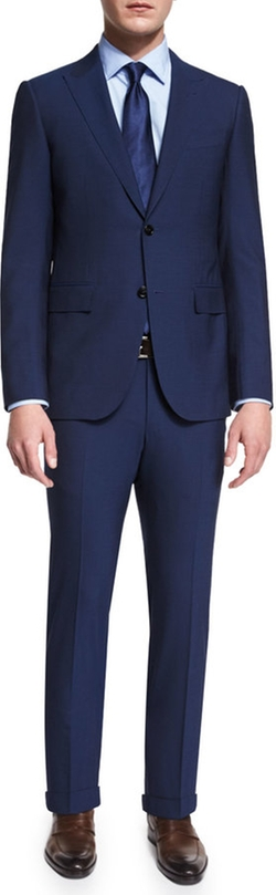 Ermenegildo Zegna - Torino Peak-Lapel Two-Piece Wool Suit