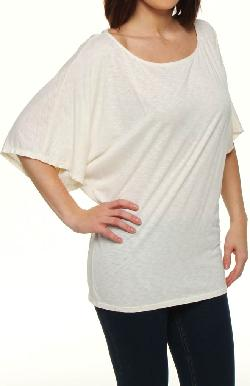 Michael Stars - Slub Jersey Off the Shoulder Dolman Sleeve 6212