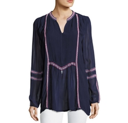 Tolani - Lani Long-Sleeve Tunic Top