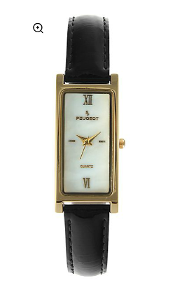 Peugeot - Elongated Leather Strap Watch