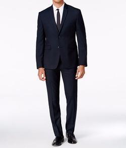 Perry Ellis - Extra Slim-Fit Grid Suit