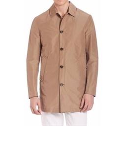 Eleventy - Short Cotton Raincoat