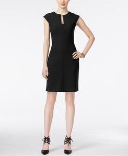 Bar III  - Split-Neck Sheath Dress