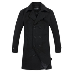 Eglemall - Double Breasted Outdoor Trench Coat