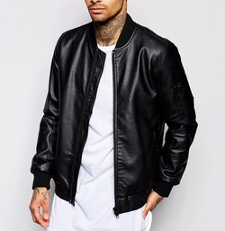 Asos - Faux Leather Bomber Jacket