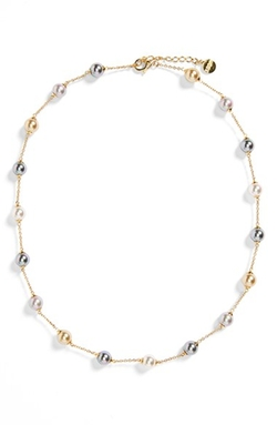 Majorica - Pearl Station Necklace