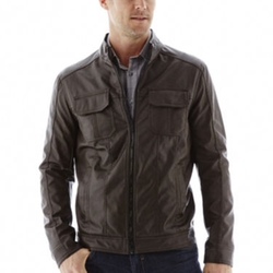Excelled - Faux-Leather Motorcycle Jacket