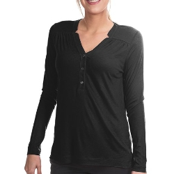 Lands' End  - Drape Notch Henley Shirt