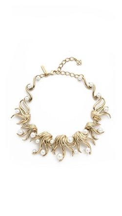 Oscar De La Renta - Sea Swirl Imitation Pearl Necklace