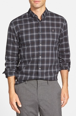 John Varvatos Star USA - Trim Fit Windowpane Sport Shirt