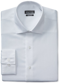 Kenneth Cole Reaction - Textured-Solid Dress Shirt