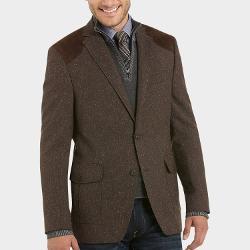 Menswearhouse - Tallia Brown Donegal Tweed Slim Fit Sport Coat