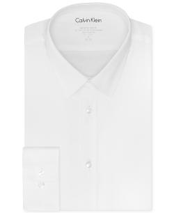 Calvin Klein - Slim-Fit Solid Dress Shirt