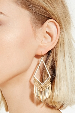 Forever21 - Cutout Chandelier Earrings