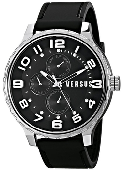 Versus by Versace - Globe Analog Display Quartz Black Watch