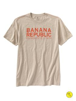BANANA REPUBLIC - Factory Modern Logo Tee