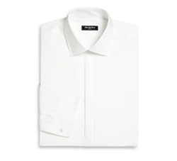 Saks Fifth Avenue Collection  - Modern Slim-Fit Tuxedo Shirt