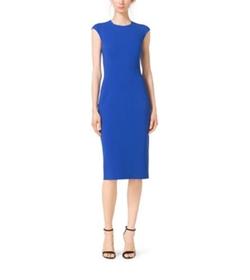 Michael Kors - Stretch Wool-Crepe Cap-Sleeve Sheath Dress