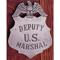GWTC - Deluxe Western Silver Badge - Deputy US Marshall