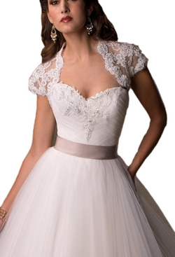Crystal Dresses - A-line Tulle Wedding Dress