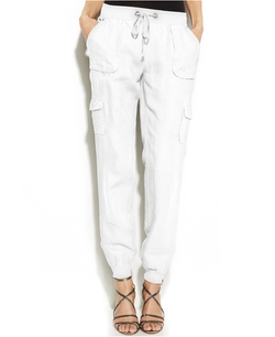 Inc International Concepts - Drawstring-Waist Linen Cargo Pants