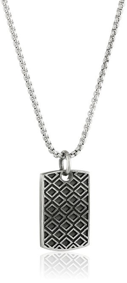 Room101 - Diamond Dog Tag Pendant Necklace
