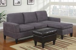 Poundex - All in One Sectional in Gray