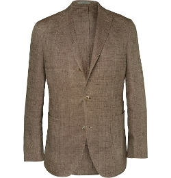 Boglioli - Unstructured Linen And Silk-Blend Blazer