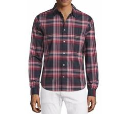 John Varvatos Star USA  - Slim-Fit Plaid Sport Shirt