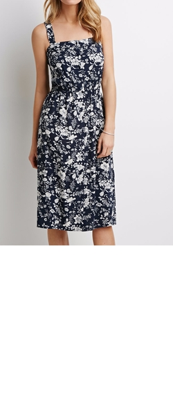 Forever21 - Contemporary Floral Button-Down Dress