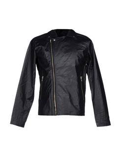 Red Collar Jacket - Biker Leather Jacket