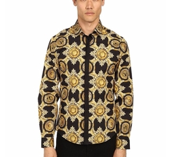 Versace Jeans - Baroque Medallion Print Button Up Shirt