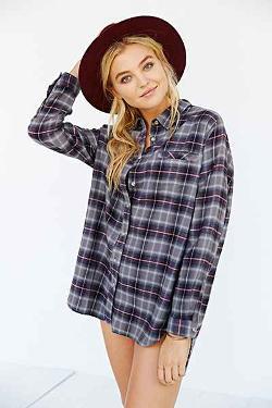 BDG - Obie Flannel Button-Down Shirt