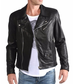 Lamb Leather - Lambskin Leather Biker Jacket