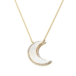 Kristin Chenoweth - Mother-Of-Pearl & CZ Moon Necklace