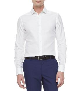 Lanvin - Slim-Cut Long-Sleeve Shirt, White