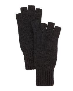 Portolano  - Fingerless Soft Knit Gloves