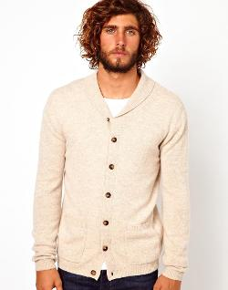 ASOS  - Lambswool Rich Shawl Neck Cardigan