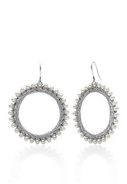 Belk & Co.  - Sterling Silver Freshwater Circle Hoop Earrings