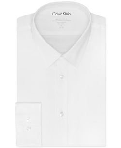 Calvin Klein - Extra Slim-Fit Solid Dress Shirt
