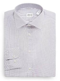 Armani Collezioni  - Modern-Fit Neat Check Dress Shirt