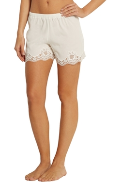 Dolce & Gabbana  - Lace Trimmed Crepe De Chine Pajama Shorts