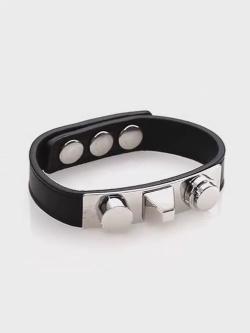 Saint Laurent  - Studded Leather Bracelet