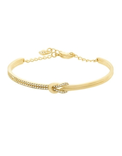 Swarovski  - Voile Goldtone And Crystal Knot Bracelet