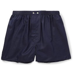 Derek Rose   - Lombard Patterned Woven-Cotton Boxer Shorts