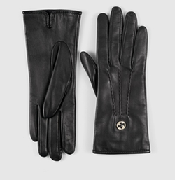 Gucci - G Detail Leather Gloves