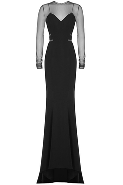 Alexandre Vauthier - Floor Length Gown With Sheer Inserts